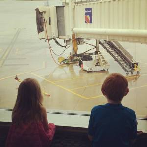 Kids at Airport
